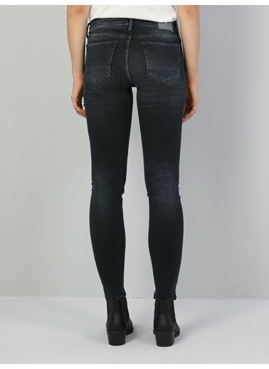 Colin's 757 Sally Süper Düşük Bel Dar Paça Super Slim Fit Koyu Mavi Kadın Jean Pantolon İndigo
